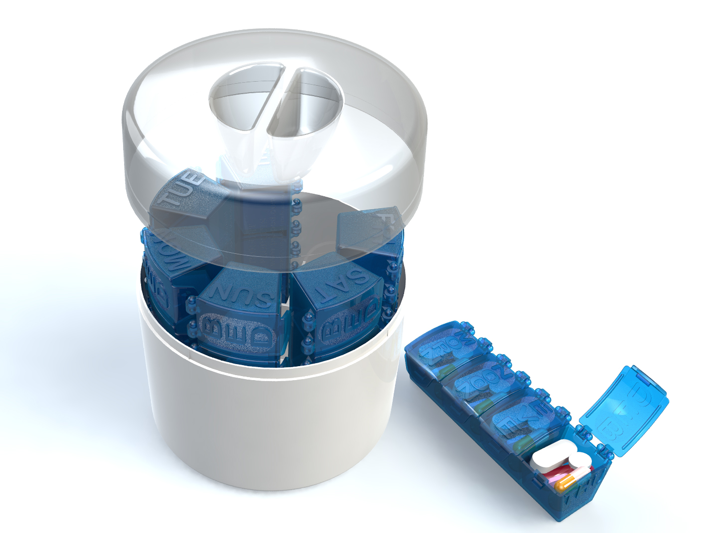 7 Day Med Manager -Desktop Weekly Pill Organizer